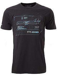 Футболка Boeing 777-300ER Schematics T-Shirt