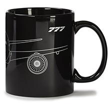 Boeing 777 Midnight Silver Mug