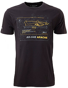 Футболка Boeing AH-64E Apache Schematics T-Shirt