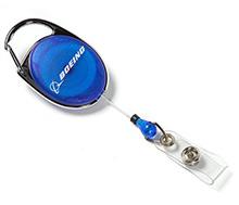 Boeing Carabiner Retractable Badge Holder