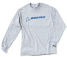 Реглан Boeing Long Slv Signature T-shirt (grey)