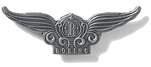 Значок Boeing Stylized Wings Pin