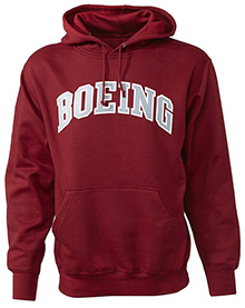 Boeing Varsity Pullover Hooded Sweatshirt (Crimson)