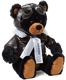 Великий ведмедик іграшка Boeing Aviator Bear (коричневий)