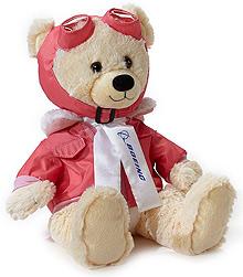 Великий ведмедик іграшка Boeing Aviator Bear (рожевий)