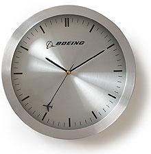 Настінний годинник Boeing Rotating Plane Wall Clock