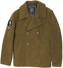 Пальто-бушлат Captain Pea Coat Alpha Industries (Moss)