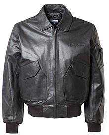 Шкіряна куртка Boeing CWU 45/P Leather Bomber Jacket (чорна)