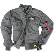 Куртка пілот Alpha Industries CWU-45/P Flight Jacket (Gun metal) MJC22000C1