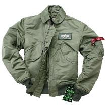 Куртка пілот Alpha Industries CWU 45/P (Sage green) MJC22000C1