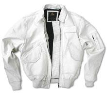 Шкіряна льотна куртка Alpha Industries CWU-45/P (White) MLC21001A1