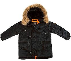 Дитяча куртка аляска Youth N-3B Parka (чорна)