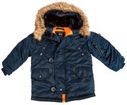 Дитяча куртка аляска Youth N-3B Parka (синя)