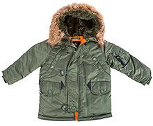Дитяча куртка аляска Youth N-3B Parka (оливкова)