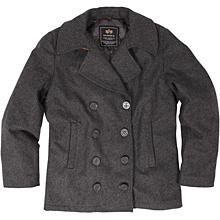 Alpha Industries Ensign Pea Coat (Charcoal)