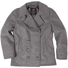 Alpha Industries Ensign Pea Coat (Light Gray)