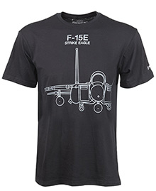 Футболка Boeing F-15E Strike Eagle Midnight Silver T-Shirt