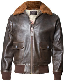 Шкіряна куртка Топ Ган Offical Top Gun Military G-1 Jacket (Brown) G-1