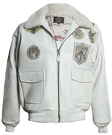 Шкіряна куртка Топ Ган Top Gun Official Bomber Jacket (White) TOPGUNX