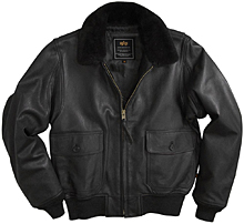 Шкіряна льотна куртка Alpha Industries G-1 Leather Jacket (Black) MLG21210P1