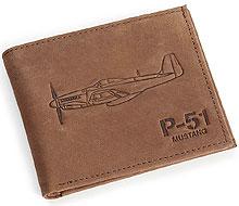 Шкіряний гаманець Boeing P-51 Mustang Leather Wallet