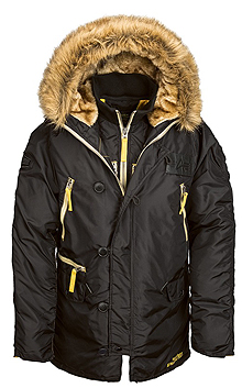Куртка аляска N-3B Inclement Parka Alpha Industries (чорна)