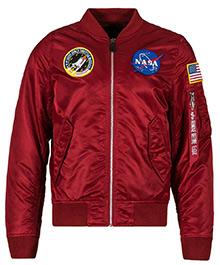 Вітровка L-2B NASA Flight Jacket Alpha Industries (червона)