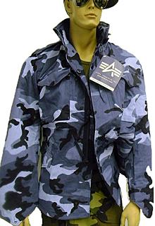 Alpha Industries M-65 Field Jacket Coat (Midnight Camo)