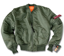 Куртка бомбер Alpha Industries MA-1 Bomber Jacket (sage green) MJM21000C1