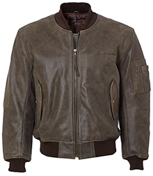 Шкіряна куртка Boeing MA-1 Leather Flight Jacket (коричнева)