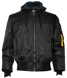 Бомбер Top Gun MA-1 Nylon Bomber jacket with hoodie (black) TGJ1735