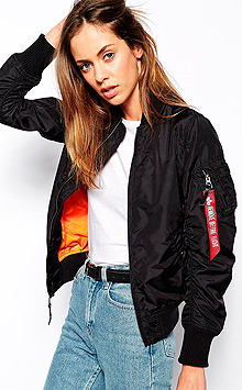 Жіночий бомбер Alpha Industries MA-1 W Flight Jacket (Black) WJM44500C1