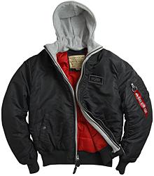 Куртка-бомбер MA-1 D-TEC Alpha Industries (чорна)