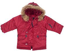 Дитяча куртка аляска Youth N-3B Parka (Commander Red)