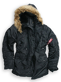 Куртка аляска Alpha Industries N-3B Parka (Black) MJN31000C1