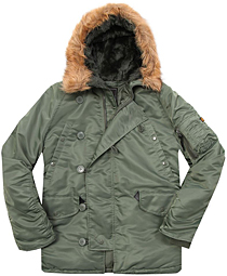 Куртка аляска Alpha Industries N3-B Parka (Sage green) MJN31000C1