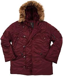 Куртка аляска Alpha Industries N-3B Parka (Maroon) MJN31210C1