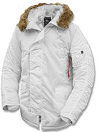 Куртка аляска Alpha Industries Slim Fit N-3B Parka (White) MJN31210C1