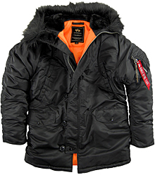Куртка аляска Slim Fit N-3B Parka Alpha Industries (чорна)