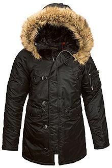 Зимова жіноча куртка аляска Alpha Industries N-3B W Parka (Black) WJN44502C1