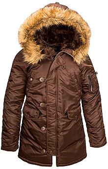 Жіноча куртка аляска Alpha Industries N-3B W Parka (Cocoa) WJN44502C1