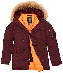 Куртка аляска Alpha Industries Slim Fit N3-B Parka (maroon) MJN31210C1