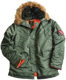 Куртка аляска N-3B Slim Fit Parka Alpha Industries (оливкова)