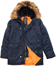 Куртка аляска Alpha Industries Slim Fit N-3B Parka синя (rep.blue) MJN31210C1