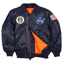 Youth NASA MA-1 Flight Jacket Alpha Industries (синя)