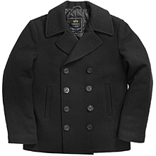 Морське пальто бушлат Navy Pea Coat Alpha Industries (Black) MJN45032C1