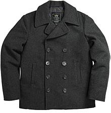 Морське пальто бушлат Navy Pea Coat Alpha Industries (Grey) MJN45032C1