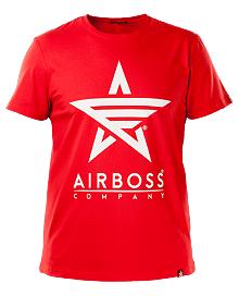 Футболка Airboss White Logo (червона)