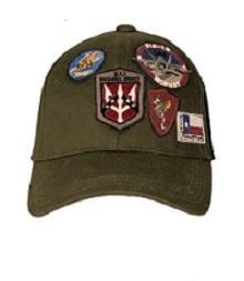 Кепка Top Gun Cap With Patches (оливкова)