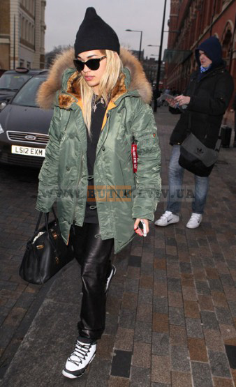 Rita Ora N-3B Slim Fit Parka Alpha Industries